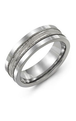 Madani Alternative Metal And Gold Wedding band MAS714BW product image