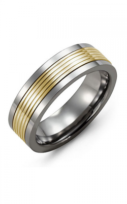 Madani Alternative Metal And Gold Wedding band MAT714TY product image