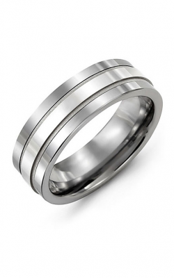 Madani Alternative Metal And Gold Wedding Band MAU714BW product image