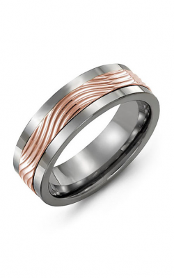 Madani Alternative Metal And Gold Wedding band MAV714TP product image