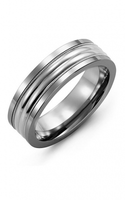 Madani Alternative Metal And Gold Wedding band MAW714BW product image