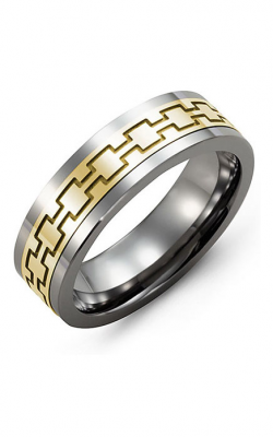 Madani Alternative Metal And Gold Wedding Band MBA714TY product image