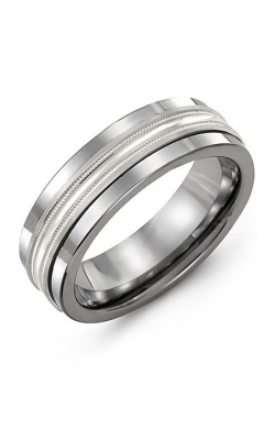 Madani Alternative Metal And Gold Wedding band MBB714BW product image