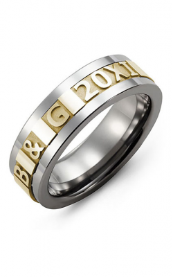 Madani Alternative Metal And Gold Wedding band MBN714BY product image