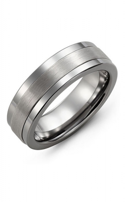 Madani Alternative Metal And Gold Wedding band MBM714TW product image
