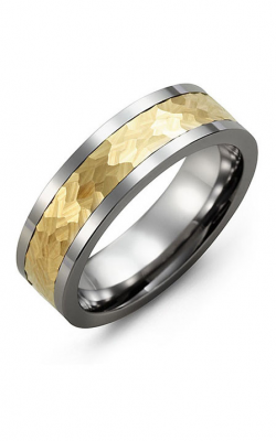 Madani Alternative Metal And Gold Wedding band MBE714BY product image