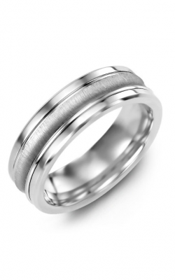 Madani Alternative Metal And Gold Wedding Band MBD714TW product image