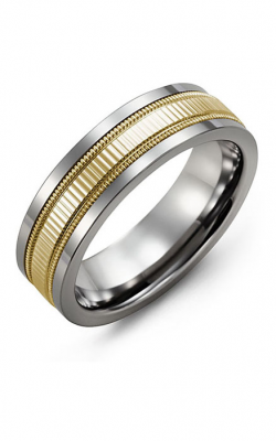 Madani Alternative Metal And Gold Wedding band MBK714TY product image