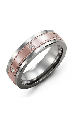 Madani Alternative Metal Gold And Diamond  Wedding Band MDK714TP-6R product image