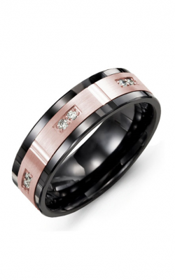 Madani Alternative Metal Gold And Diamond  Wedding band MDB714CP-12R product image