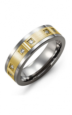 Madani Alternative Metal Gold And Diamond  Wedding band MDC714TY-12R product image