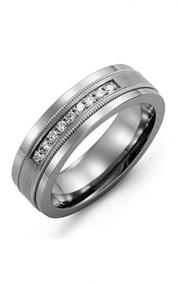 Madani Alternative Metal Gold And Diamond  Wedding Band MDJ714BW-18R product image
