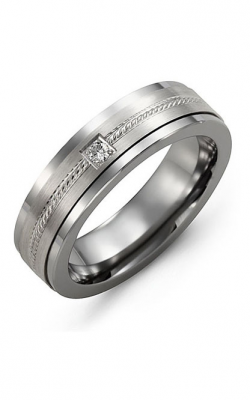 Madani Alternative Metal Gold And Diamond  Wedding Band MDO714TW-5R product image