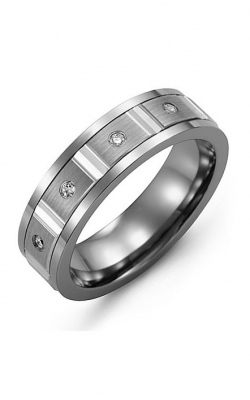 Madani Alternative Metal Gold And Diamond  Wedding Band MDL714TW-8R product image