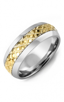 Madani Alternative Metal Half-Round Gold Wedding Band MFE814LY product image