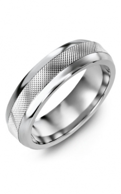 Madani Alternative Metal Half-Round Gold Wedding Band MFG614AW product image