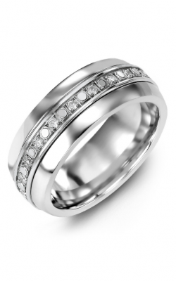 Madani Alternative Metal Half-Round Gold Wedding Band MFV814AW-36R product image