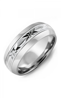 Madani Alternative Metal Half-Round Gold Wedding Band MFL814AW product image