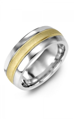 Madani Alternative Metal Half-Round Gold Wedding Band MFQ814AY product image
