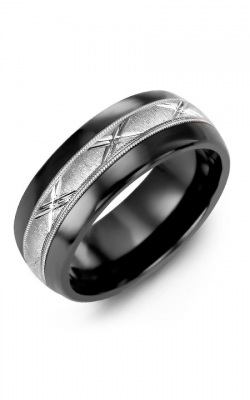 Madani Alternative Metal Half-Round Gold Wedding Band MFP814JW product image