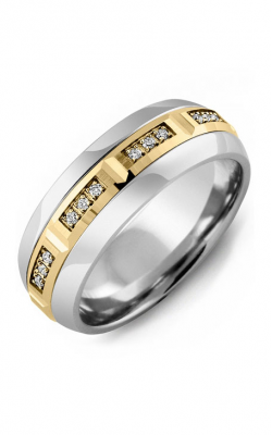 Madani Alternative Metal Half-Round Gold Wedding Band MFA614LY-12R product image