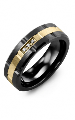 Madani Alternative Metal And Gold Blades Wedding band MIC714UY-3R product image