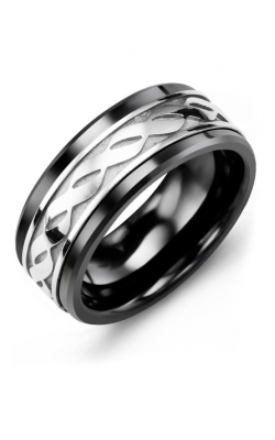 Madani Alternative Metal Gold Prestige Wedding Band MLE914CW product image
