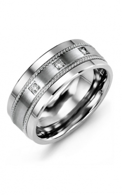 Madani Alternative Metal Gold And Diamond  Wedding Band MDQ714TW-6R product image