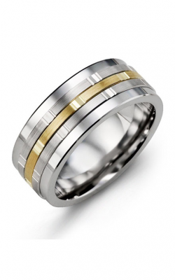 Madani Alternative Metal Gold Prestige Wedding Band MJL914BN product image