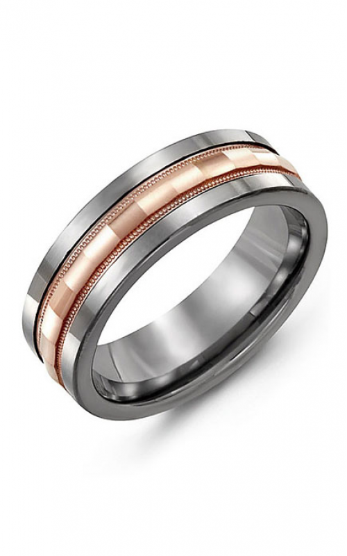 Madani Alternative Metal And Gold Wedding band MAC714TP product image