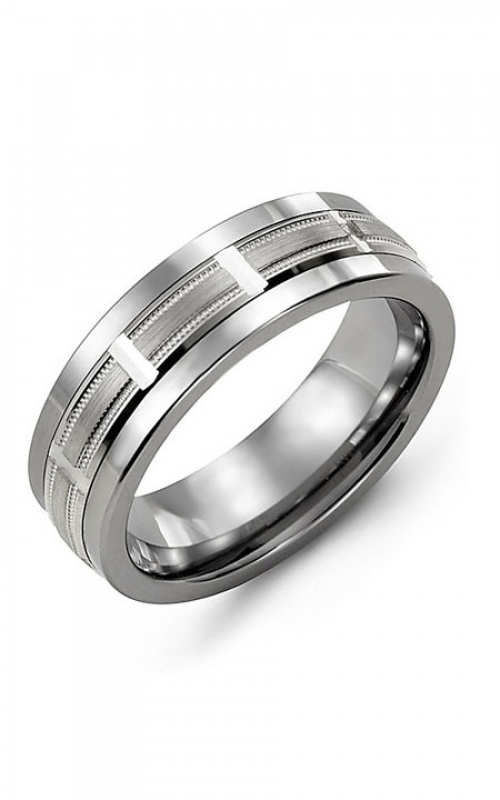 Madani Alternative Metal And Gold Wedding band MAH714TW product image