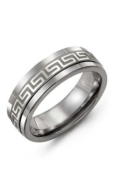 Madani Alternative Metal And Gold Wedding band MAJ714BW product image