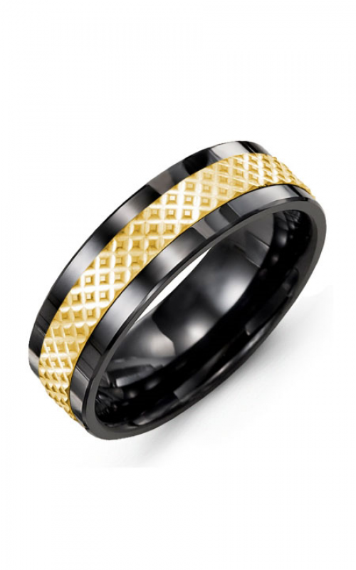 Madani Alternative Metal And Gold Wedding band MAP714CY product image