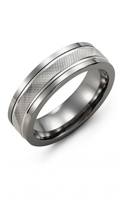 Madani Alternative Metal And Gold Wedding band MAZ714TW product image