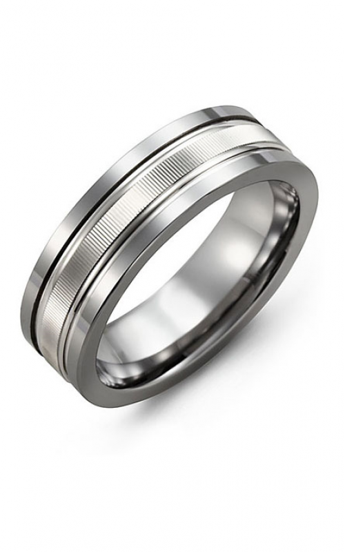 Madani Alternative Metal And Gold Wedding band MBG714TW product image