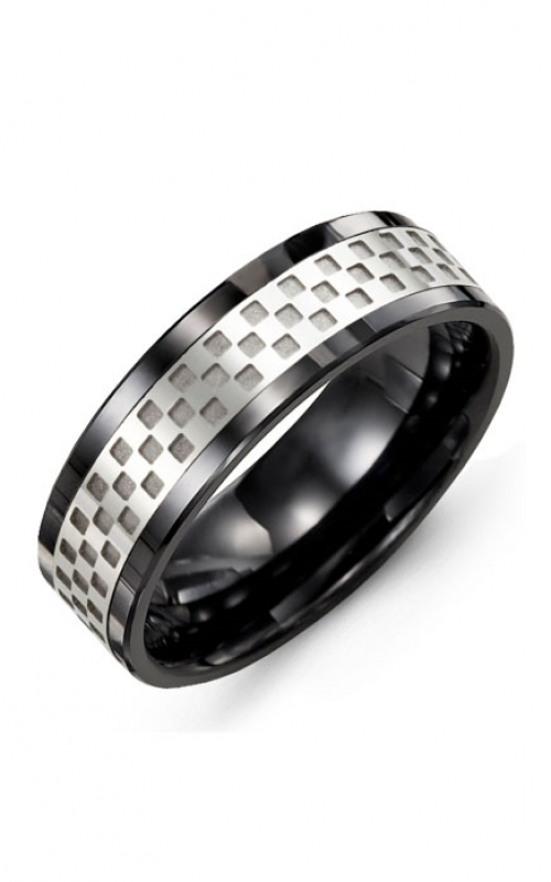Madani Alternative Metal And Gold Wedding band MBH714CW product image