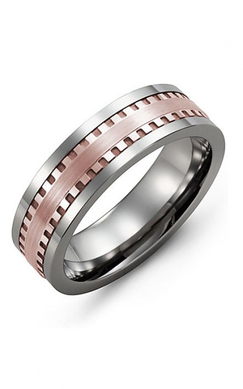 Madani Alternative Metal And Gold Wedding band MBI714TP product image