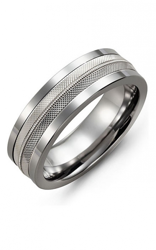 Madani Alternative Metal And Gold Wedding band MBL714TW product image