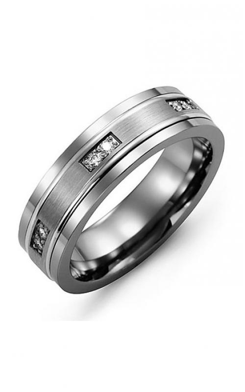 Madani Alternative Metal Gold And Diamond  Wedding band MDI714TW-12R product image