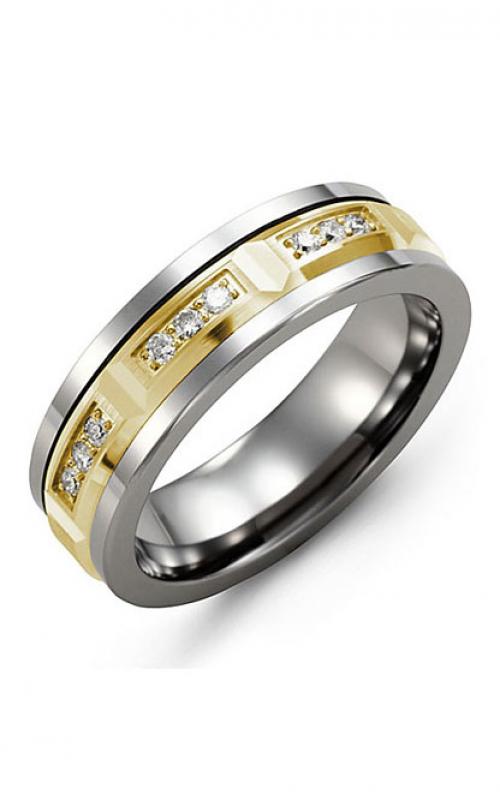 Madani Alternative Metal Gold And Diamond  Wedding band MDM714TY-18R product image