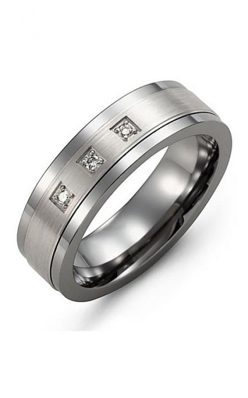 Madani Alternative Metal Gold And Diamond  Wedding band MDA714TW-6R product image