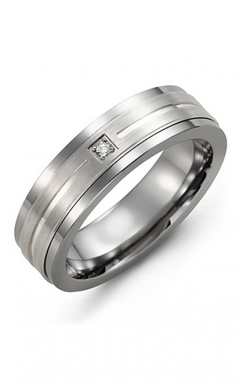 Madani Alternative Metal Gold And Diamond  Wedding band MDD714BW-5R product image
