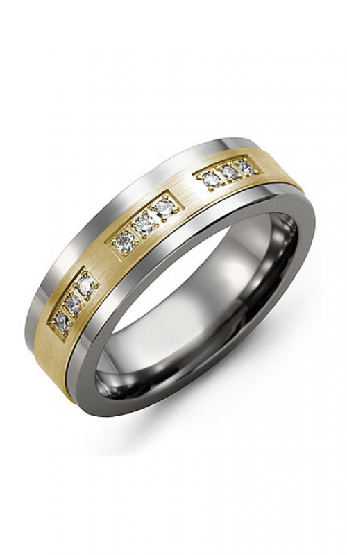 Madani Alternative Metal Gold And Diamond  Wedding band MDE714BY-18R product image