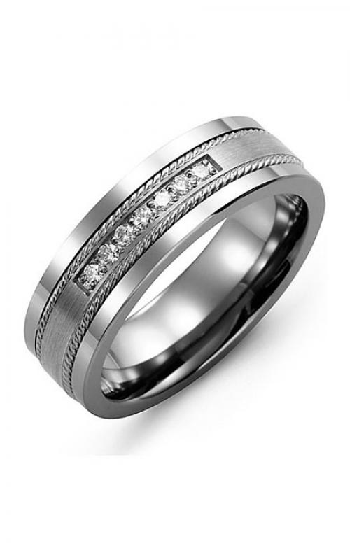 Madani Alternative Metal Gold And Diamond  Wedding band MDP714TW-14R product image