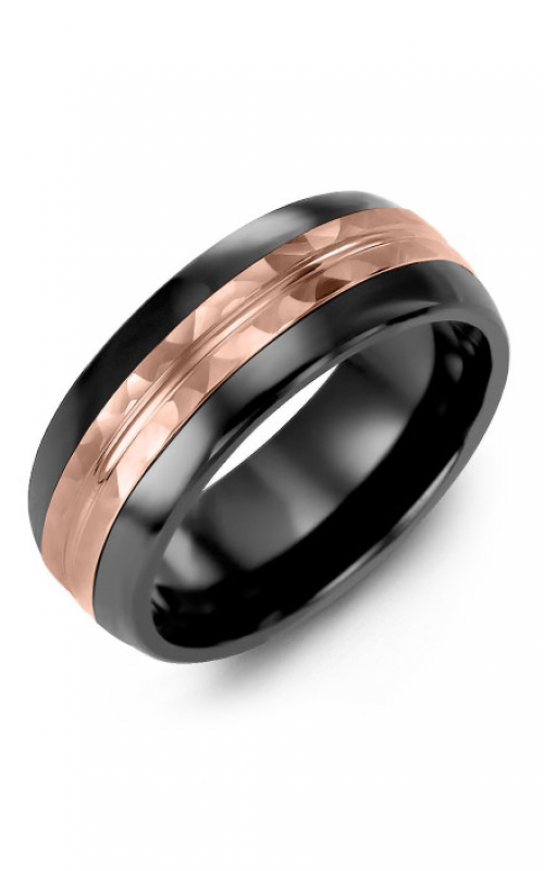 Madani Alternative Metal Half-Round Gold Wedding band MFJ814JP product image