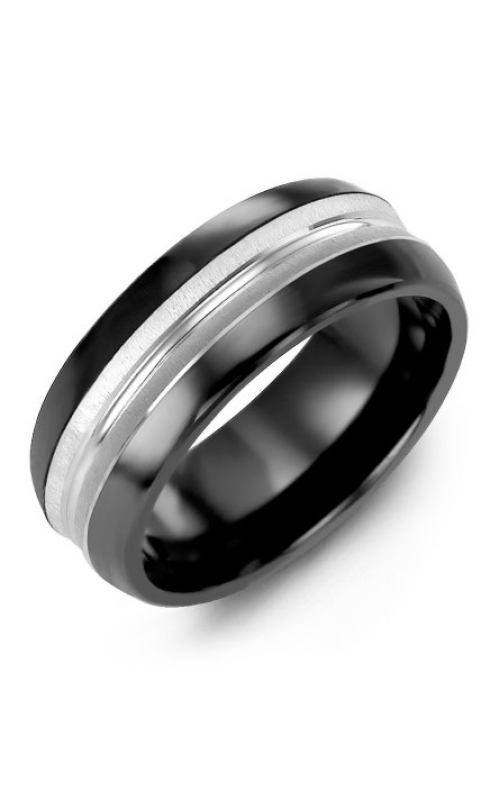 Madani Alternative Metal Half-Round Gold Wedding band MFM814JW product image