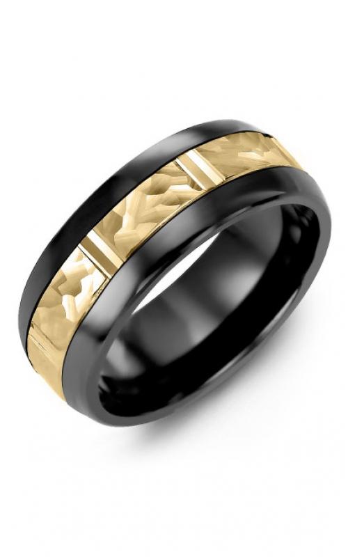 Madani Alternative Metal Half-Round Gold Wedding band MFH814JY product image