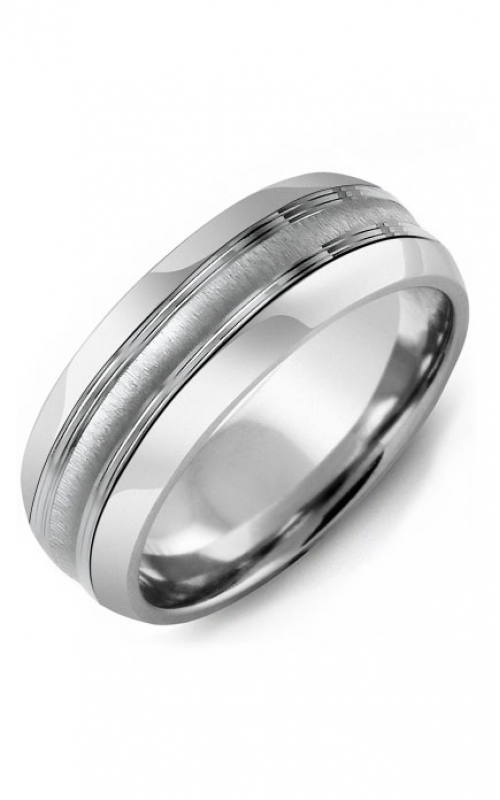 Madani Alternative Metal Half-Round Gold Wedding band MFF814AW product image