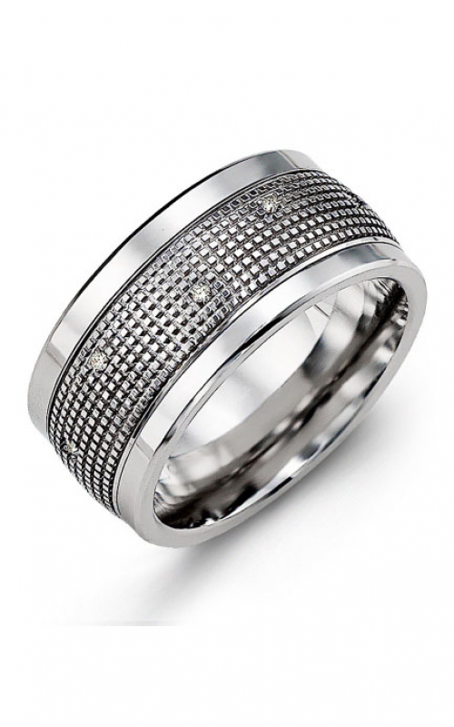 Madani Alternative Metal Gold Prestige Wedding band MJX114BW-12R product image
