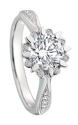 Maevona Scottish Wildflowers Engagement Ring A059-SNO RD PV B7 product image